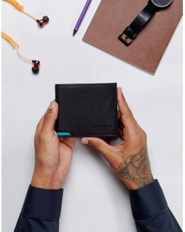 Corcoin Coin Wallet In Leather In Black