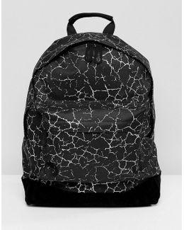 Cracked Backpack In Black