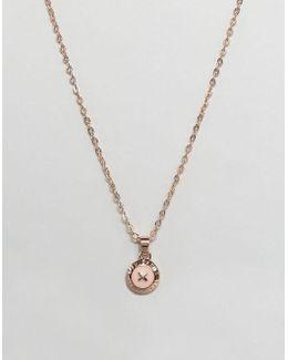 Mini Enamel Button Pendant Necklace