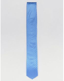 Silk Tie In Ck Pattern