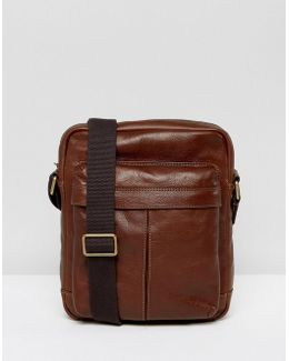 City Flight Bag In Leather