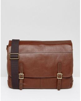 Messenger Bag In Leather