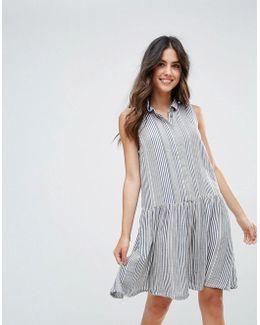 Serge Stripe Drop Hem A-line Dress