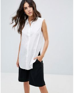 Lazy Linen Sleeveless Shirt
