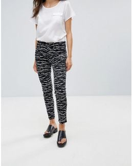 Tapir Wave Denim Cropped Jeans