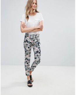 Isola Bloom Print Cotton Trousers