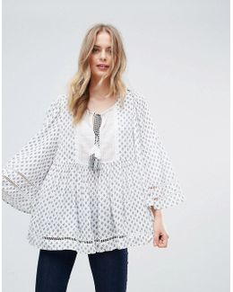 Ava Tile Printed Blouse