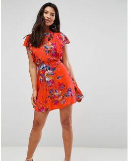 Frill Sleeve Detailed Dress