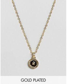 Enamel Button Pendant Necklace