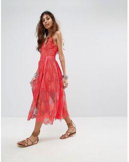 Matchpoint Lace Layer Midi Dress
