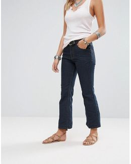 60's Raw Denim Kick Flare Jeans