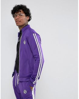 Track Jacket In Purple With Taping