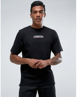 T-shirt In Black With Energize Print