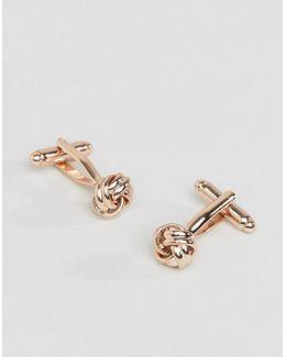 Knot Cufflinks In Rose Gold