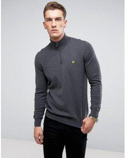 1/4 Zip Merino Sweater Gray