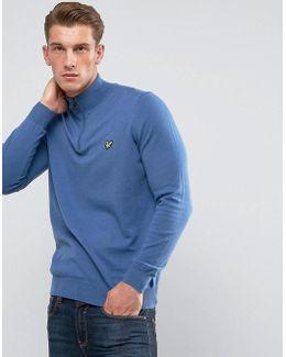 1/4 Zip Merino Sweater Blue