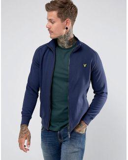 Zip Through Funnel Neck Sweater Navy