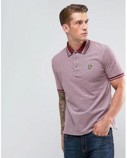 Tipped Polo Shirt Burgundy