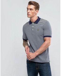 Stripe Logo Polo Shirt Navy