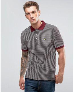 Stripe Logo Polo Shirt Burgundy