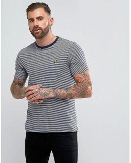 Logo Stripe T-shirt Navy
