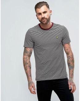 Logo Stripe T-shirt Burgundy
