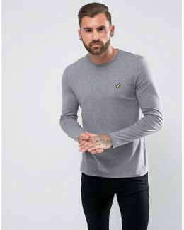 Long Sleeve Logo T-shirt Mid Grey Marl