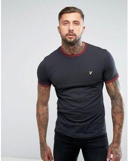 Ringer T-shirt Black