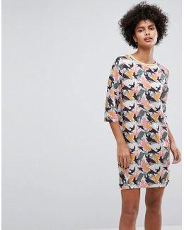 Bird Camo T-shirt Dress