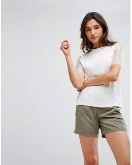 Scalloped T-shirt