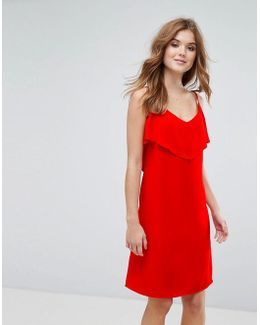 Cami Dress With Frill Overlay