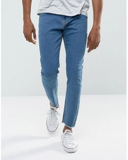 Skinny Jeans With Raw Edge
