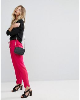Drawstring Waist Slim Leg Pants