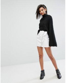 Ruffle Side Mini Skirt