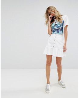 Button Through Pephem Skirt