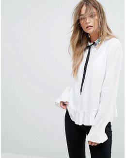 Embellished Collar Blouse