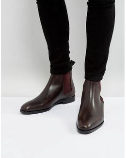 Gerald Leather Chelsea Boots In Brown