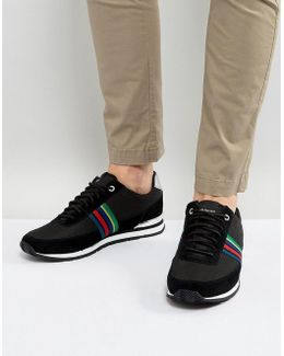 Svenson Runner Stripe Trainers In Black