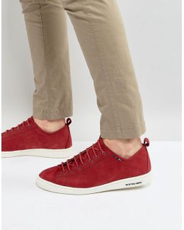 Miyata Nubuck Trainers In Red