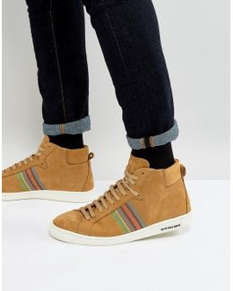 Kim Nubuck High Top Trainers In Camel