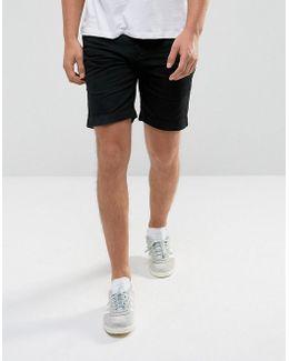 Pull On Drawstrinig Canvas Shorts