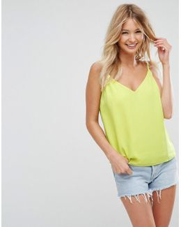 Fuller Bust Swing Cami With Double Layer