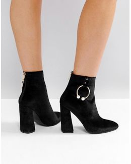 Paparazzi Hoop Heeled Ankle Boots
