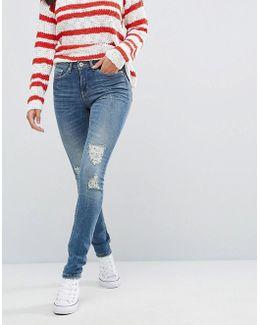Bright Sanna Ripped Skinny Jeans