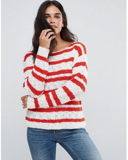 Gilli Striped Knit Sweater