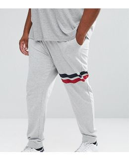 Plus Joggers With Stripe Detail