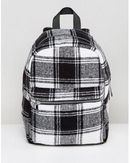Monochrome Check Backpack