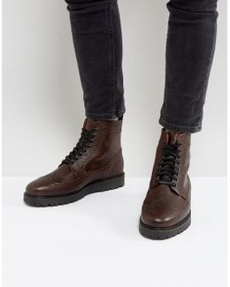 Northgate Scotchgrain Leather Boots In Brown