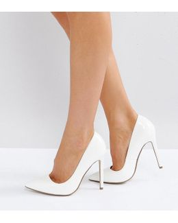 Patent Pointed High Heel Court Shoe