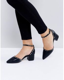 Flat Studded Pointed Heel